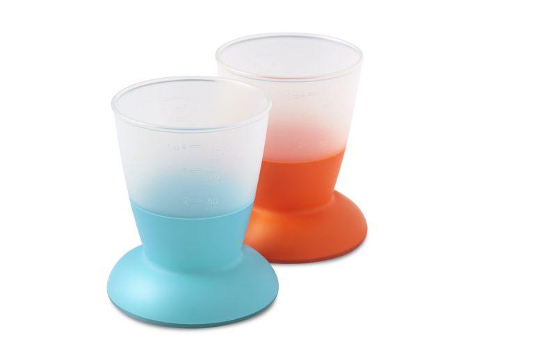 סט כוסות לתינוק בייבי ביורן צבע הסט: כתום/טורקיז